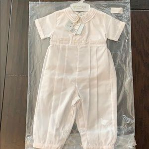 Infant boy white longall baptismal outfit